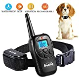 Training Dog Collar - Dog Training Collar with Remote Control Waterproof Train Rechargeable Dog Collar NO Barking with Beep Vibration Shock Safe Nylon Collar for Small Medium Large Dog
