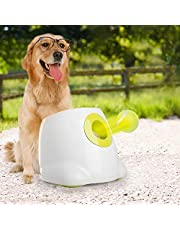 ALL FOR PAWS Interactive Automatic Ball Launcher Dog Toy, Tennis Ball Throwing Machine for Dog Training, 3 Balls Included …