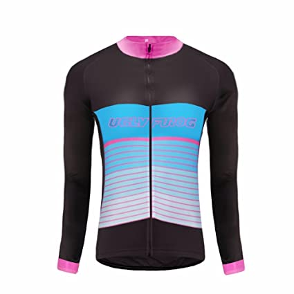 3ec11a5980553 Uglyfrog Último Mujer Warm Ciclismo Mangas Largas Maillots Cremallera  Completa Moda Transpirable Winter Cálido Ropa Deportiva