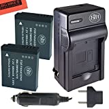 BM Premium 2-Pack of DMW-BLH7 Batteries and Charger for Panasonic Lumix DMC-LX10, DMC-LX15, DMC-GM1, DMC-GM1K, DMC-GM1KA, DMC-GM1KS, DMC-GM5, DMC-GM5KK Digital Camera