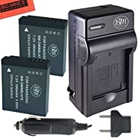BM Premium 2-Pack of DMW-BLH7 Batteries and Charger for Panasonic Lumix DC-GX850, DMC-GM1, DMC-GM1K, DMC-GM1KA, DMC-GM1KS, DMC-GM5, DMC-GM5KK Digital Camera