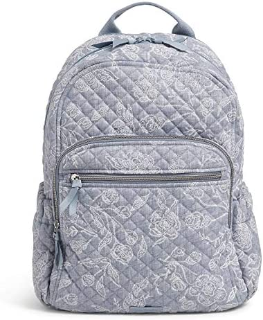 Vera Bradley Women's Signature Cotton Campus Backpack, Park Lace, One Size