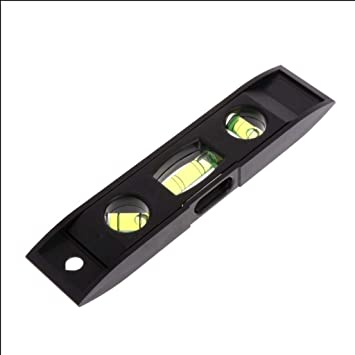 2Pack Two Ways Mini Spirit Level Measurement Instrument T-type Spirit Level Bubble Aid Indicator for Camping Campervan Tripod Construction Home