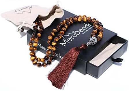 Premium Mala Beads Necklace - Buddhist Prayer Beads for Meditation - Yoga Jewelry 108 Mala Bead Bracelet