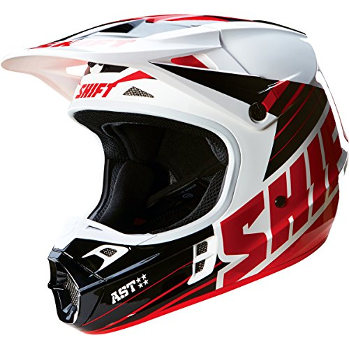 Shift Racing Assault Men's Off-Road Motorcycle Helmets - Black/White / (Assault Off Road Helmet)