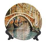 LCGGDB 10 Inch Venice Pattern Ceramic Decorative