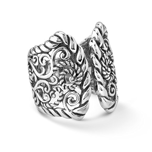 Carolyn Pollack Sterling Silver Open Filigree Rope Ring - Open Shank Ring