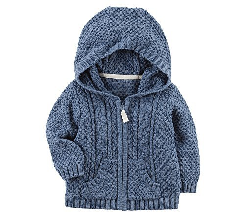 Carter's Baby Boys' Zip up Cable Knit Cardigan 18 Months