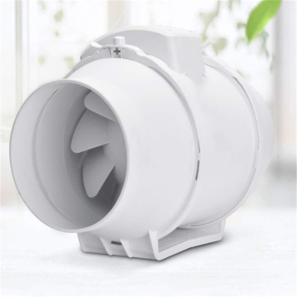 YOUCHOU Extractor de baño, Extractor de Cocina Ventilador silencioso en línea Duradero Resistente al Agua con Interruptor de Dos velocidades Tamaño: 100 mm