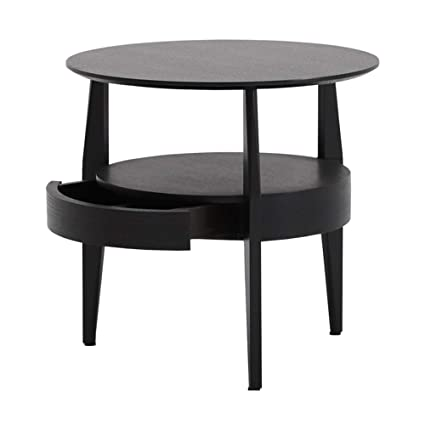 buy online e00ef 28a3f Amazon.com: WYNZYBZ Round Solid Wood Coffee Table, Side ...