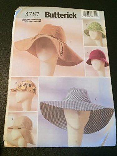 Butterick 3787 Sewing Pattern, Fashion Hats, One Size