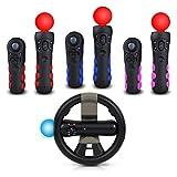 4-in-1 Multiclor controller grip and racing Wheel