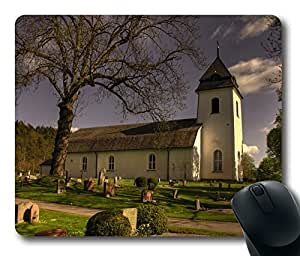 Mouse Pad Vastra Tunhems Kyrka Sweden Desktop Laptop Mousepads Comfortable Office Mouse Pad Mat Cute Gaming Mouse Pad