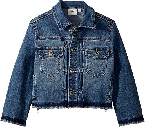 AG Adriano Goldschmied Kids Girl's Daize Zipper Crop Jacket (Big Kids) Jewel Blue Large by AG Adriano Goldschmied Kids