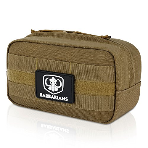 Barbarians Tactical MOLLE Utility Pouch for EMT Medical First Aid (Tan)
