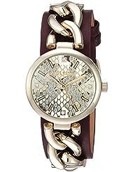 Steve Madden Womens Quartz Casual Watch, Color:Gold-Toned (Model: SMW049G-BU)