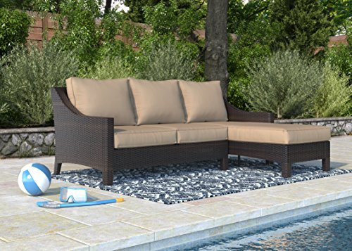 Serta ODSO10003A Tahoe Collection Outdoor Sectional (Restoration Outdoor Hardware Chaise)