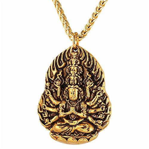 Buddhism Stainless Ekadasa mukba Avalokitesvara Necklace
