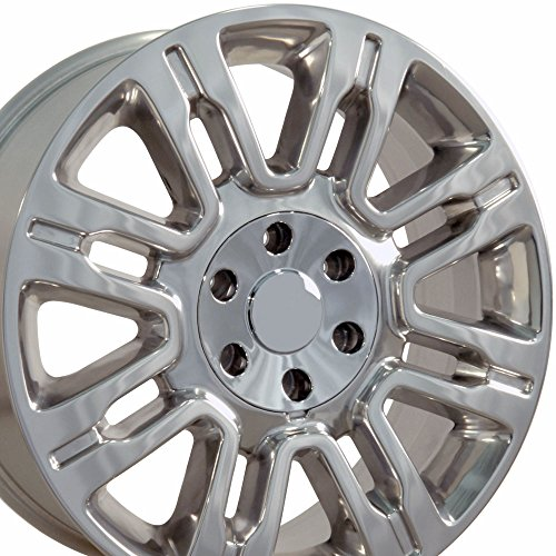 20x8.5 Wheel Fits Ford Trucks & SUVs - Expedition Style Polished Rim, Hollander 3788
