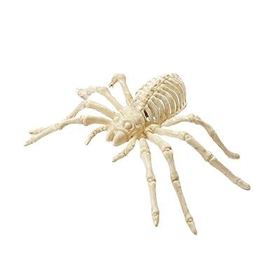 Amosfun Insectos Falsos de plástico Realista Insectos Luminosos Miedo Espeluznante Goma Broma Gag Regalos para Decoraciones de Halloween: Juguetes y juegos