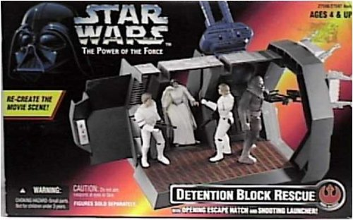 Star Wars Power of the Force Detention Block Rescue Play Set By Kenner by Kenner