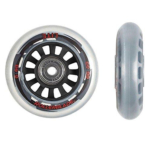 Rollerblade ABEC 7 Skate Bearings Complete Wheel Kit, 80mm/82A, - Blades Replacement Skate Hockey