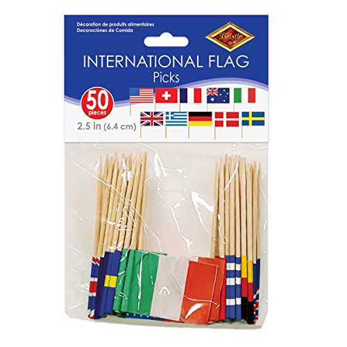 : International Flag Picks (asstd designs)    (50/Pkg)