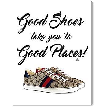 The Oliver Gal Artist Co. Fashion and Glam Wall Art Canvas Prints 'Doll Memories - Unique Fab Shoes' Home Décor, 12