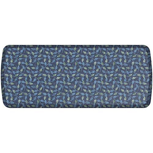 GelPro Elite Premier Anti-Fatigue Kitchen Comfort Floor Mat, 20x48'', New Leaves Deep Sea Stain Resistant Surface with therapeutic gel and energy-return foam for health & wellness by GelPro