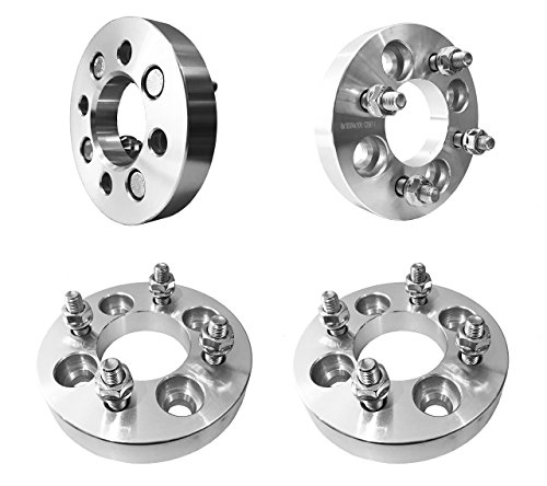 "- FAS Motorsports 4x100 Wheel Spacers (1"") 25mm (67.1mm bore, 12x1.5 Studs & Nuts) 4 Lug Wheel Spacer for Toyota Corolla, Echo, Tercel, Yaris, MR2, Volkswagen Cabrio, Jetta, Passat (Silver) (4Pcs)"