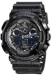 Casio G Shock Analog Digital Dial Black Resin Mens Watch GA100CF-1A