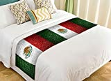 PicaqiuXzzz Custom Brick Wall with Mexico Flag Bed Runners And Scarves Bed Decoration 20x95 inch
