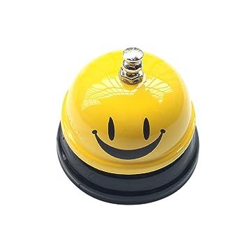 Bar Accessoires NIBESSER Tischglocke Lächeln Muster