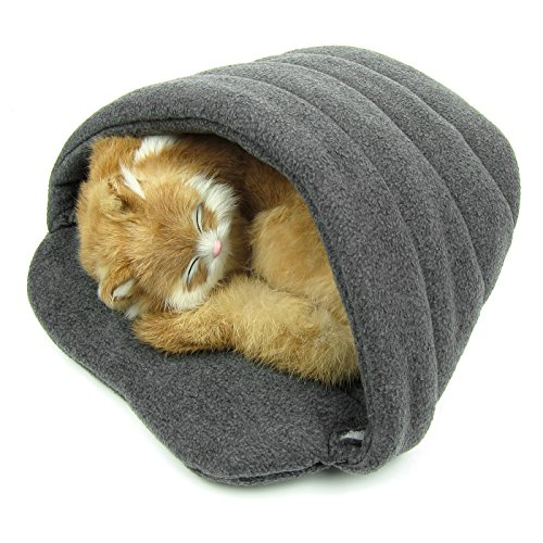 Alfie Pet by Petoga Couture - Fabian Cat Sleeping Cave Bed - Color: Grey, Size: - Grey Fabian