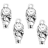 (4) Clayvision Scout Brownie Daisy Girl Charm