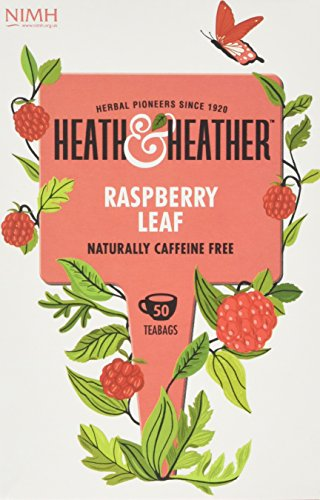Heath and Heather Raspberry Leaf Tea 50 Teabags (Pack of 3, Total 150 -
