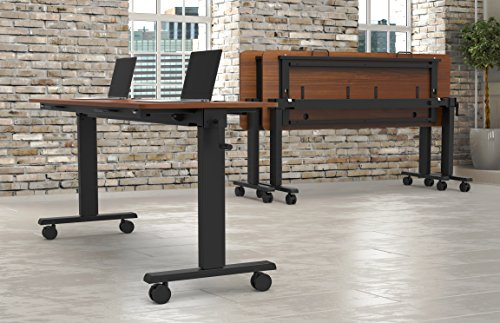 Crank Height Adjustable, Flip Top Nesting Standing Collaboration Table with Rolling Locking Casters to Easily Store by Stand Up Desk Store (Image #2)