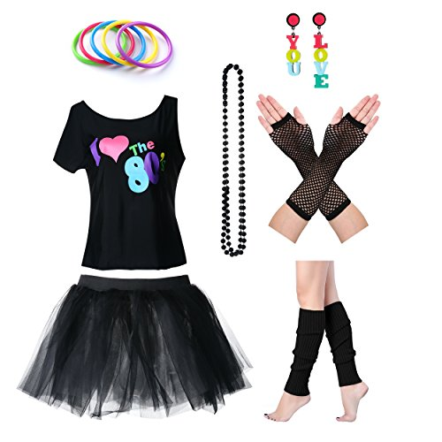 Womens I Love The 80s T-Shirt 80s Outfit Accessories