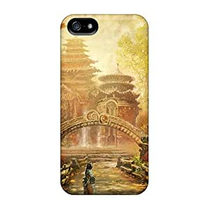 Tpu Case Cover Compatible For Iphone 5/5s/ Hot Case/ Asian City Fantasy