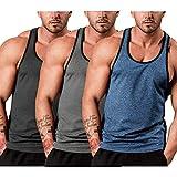 COOFANDY Men's 3 Pack Gym Tank Tops Y-Back Workout