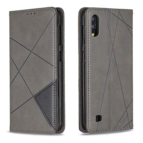 for Samsung Galaxy A10 (2019) Wallet Case,ACMBO Premium PU Leather Magnetic Auto Closure Flip Folio Kickstand Credit ID Card Slot Wallet Case Cover for Galaxy A10 6.2 inch, Gray