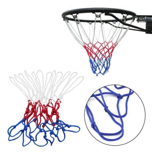 Alicenter(TM) New Red White Blue Basketball Net Nylon Hoop Goal Rim Mesh Net Sports