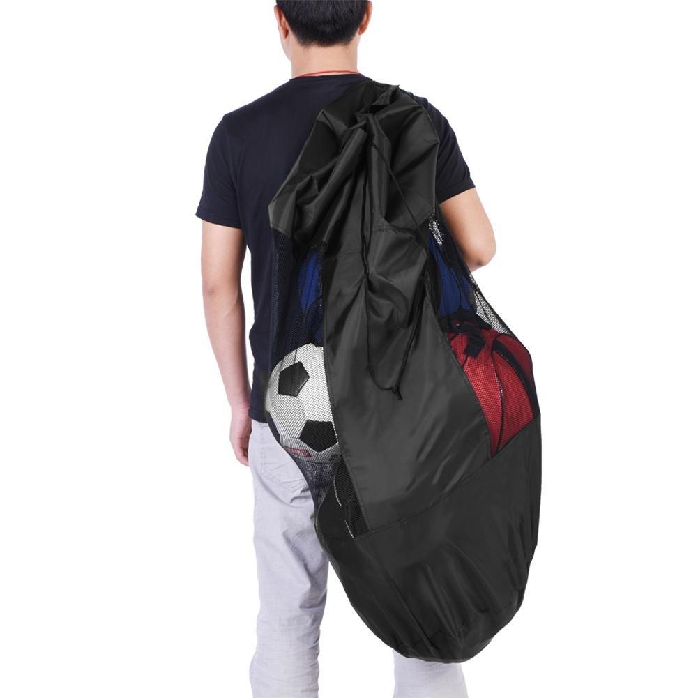 Asixx Mesh Equipment Bag Sports Ball Bag Portable Basketball Football Volleyball Soccer Sports Balls Mesh Drawstring Storage Bag