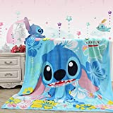 Blaze Children's Cartoon Printing Blanket Coral Fleece Blanket 59 by 79'' (Stitch)