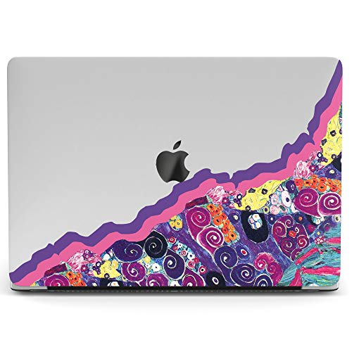 Wonder Wild Mac Retina Cover Case for MacBook Pro 15 inch 12 11 Clear Hard Air 13 Apple 2019 Protective Laptop 2018 2017 2016 2015 Plastic Print Touch Bar Abstract Colorful Pink Wave Art Bloom Water