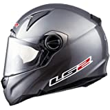 LS2 Helmets FF385 CR1 Full Face Motorcycle Helmet (Solid Gunmetal, Large)