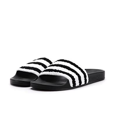 new styles d1e20 466e8 adidas Men s Adilette Slide Sandals (11 D(M) US) Black White