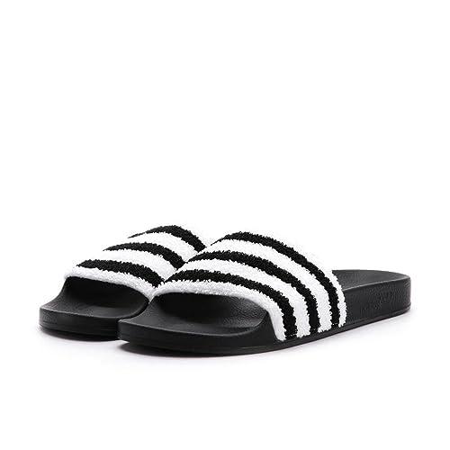cb1071af7154 Adidas Men s Adilette Slide Sandals (11 D(M) US) Black White  ADIDAS ...