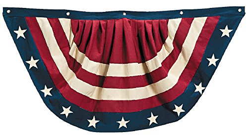 Vintage Americana Style Stars & Stripes Pleated Bunting Outdoor 4th of july Decoration 38