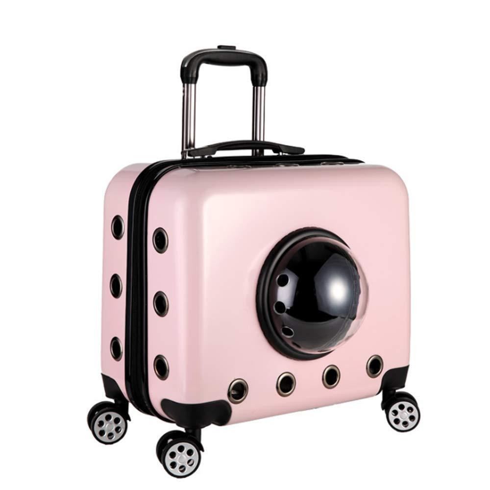 C Pet Trolley Case, Multi-Function Portable Pet Travel Carrier, Universal Wheel Trolley Case Pet Bag, Breathable Luxury Travel Pet Bag Strollers